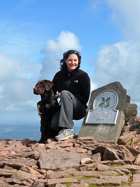 Blue and Julia at Pen Y Fan in South Wales