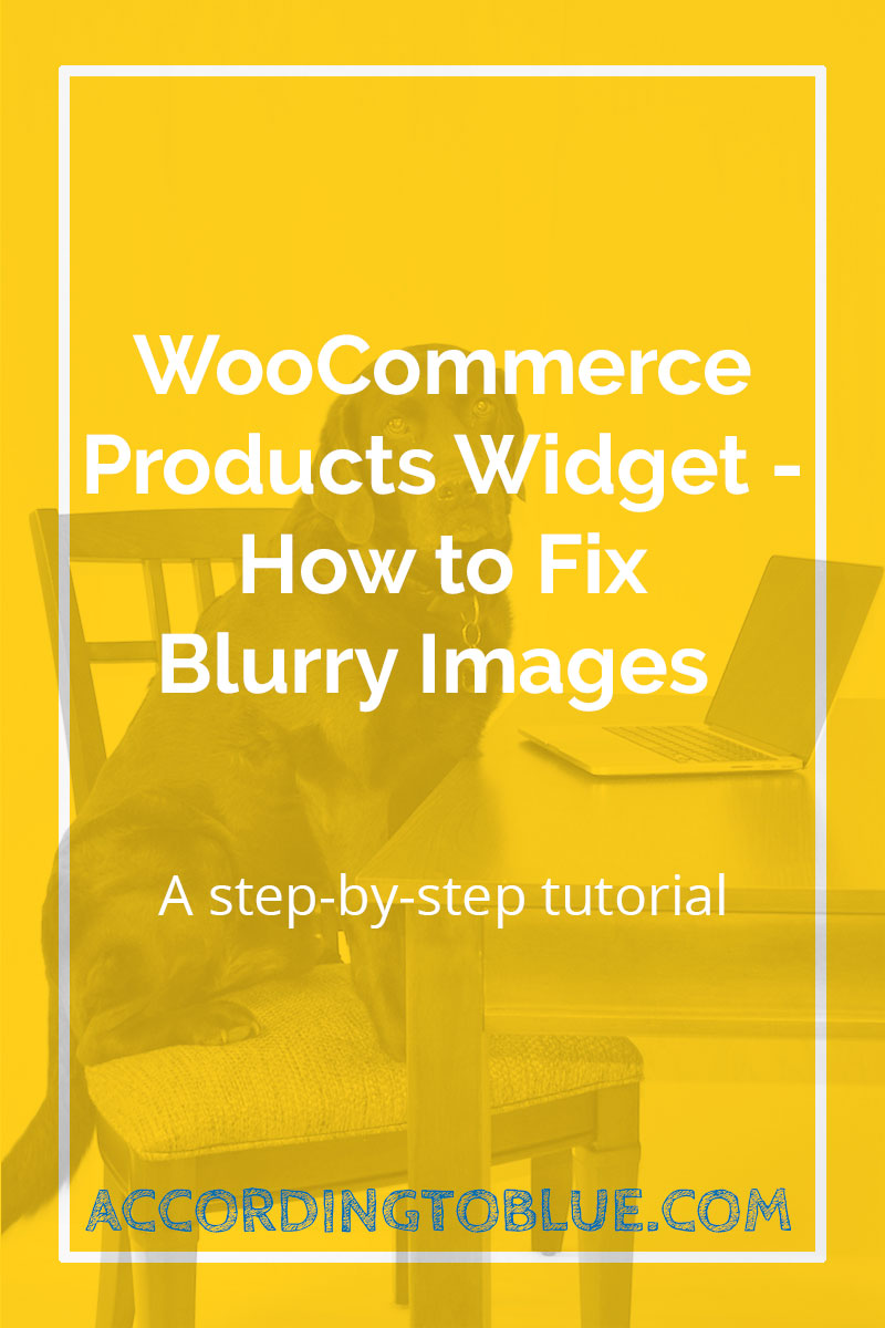 woocommerce products widget fix blurry images